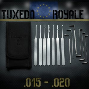 Europese variant van de klassieke Tuxedo set van Sparrows lockpicks