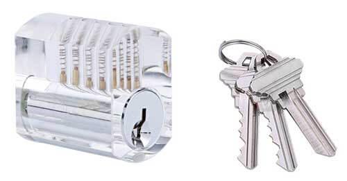Einseitiges Transparantes Zylinderschloss